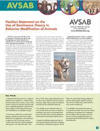 AVSAB Position Statement on Dominance http://avsabonline.org/uploads/position_statements/Dominance_Position_Statement_download-10-3-14.pdf