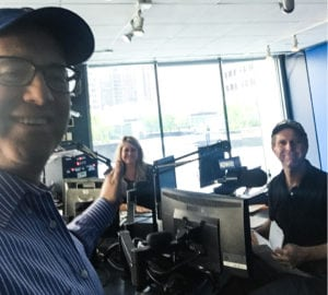Noted pet expert Steve Dale on the air with Bill Leff and Wendy Snyder on WGN Radio