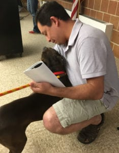 Chicago Alderman Ray Lopez and one very adoptable dog