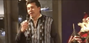 Chicago Police Department honor guard vocalist Arturo Andonaegui