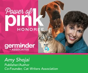 Amy Shojai earns Power of Pink Award