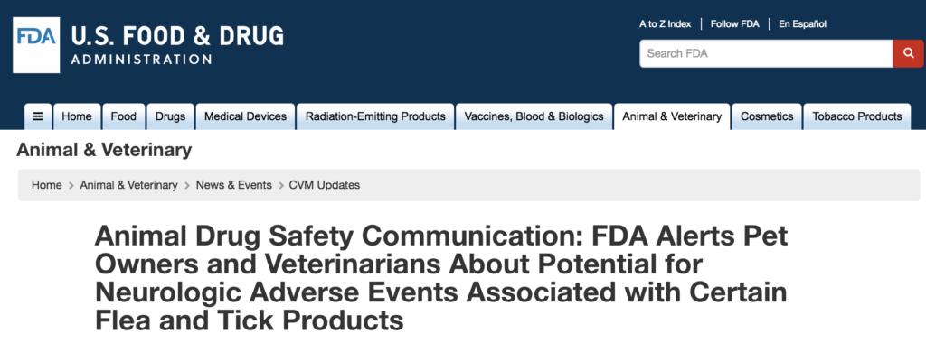 FDA warning regarding flea tick products explained