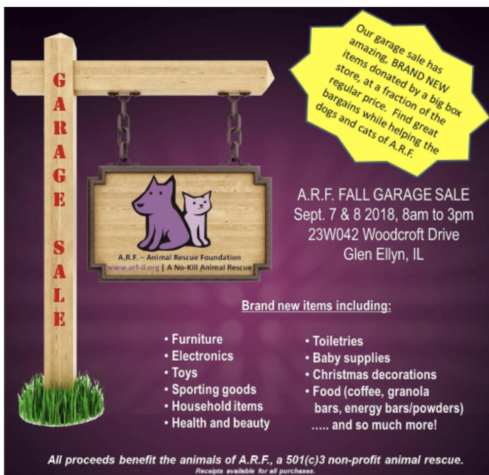 ARF garage sale