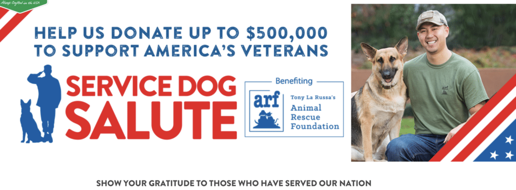 Program pairing veterans and their dogs