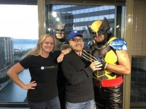 Batman and Wolverine on WGN radio