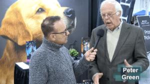 Pet expert Steve Dale talks with dog show judge Peter Green